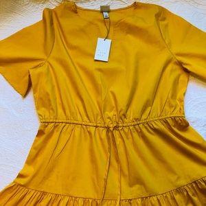 A New Day Tassel Mustard Dress